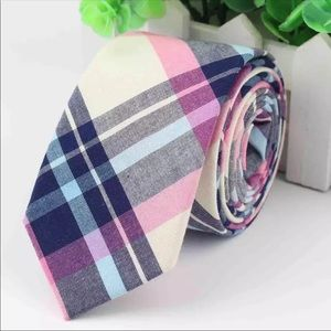 Pink / Blue Plaid (Easter / Spring) Tie